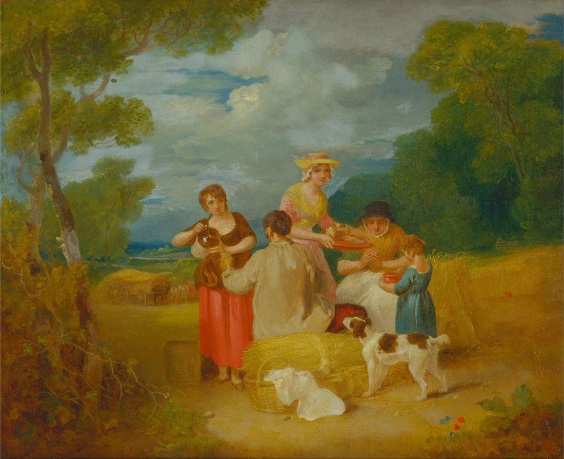 """""""Noon."""" 1799. Oil on  canvas. Collection of the Yale Center for British Art, New Haven."""