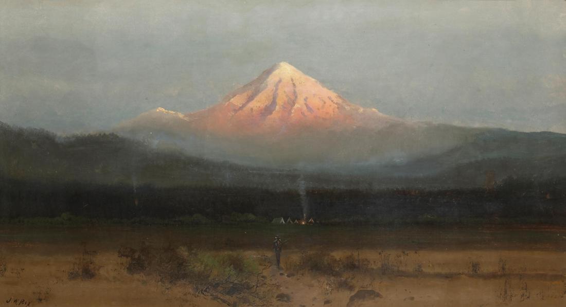 """Encampment below Mount Hood, Oregon."" No date."