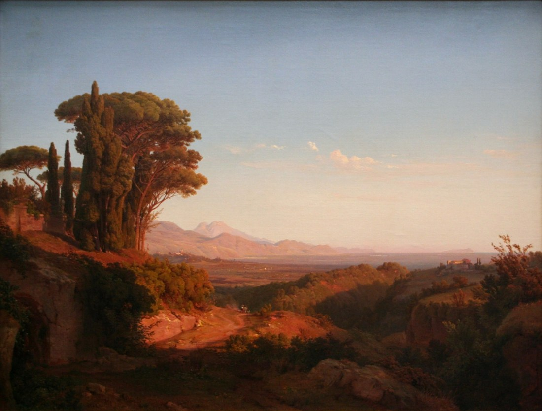 """Albaner Berge"" (Alban Hills)."