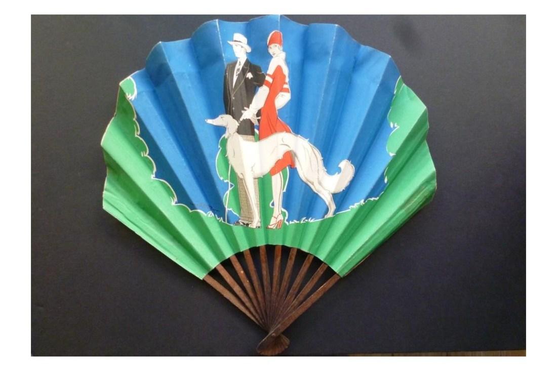 Advertising fan for Grands Magasins du Royal-Haussmann. 1920-30.