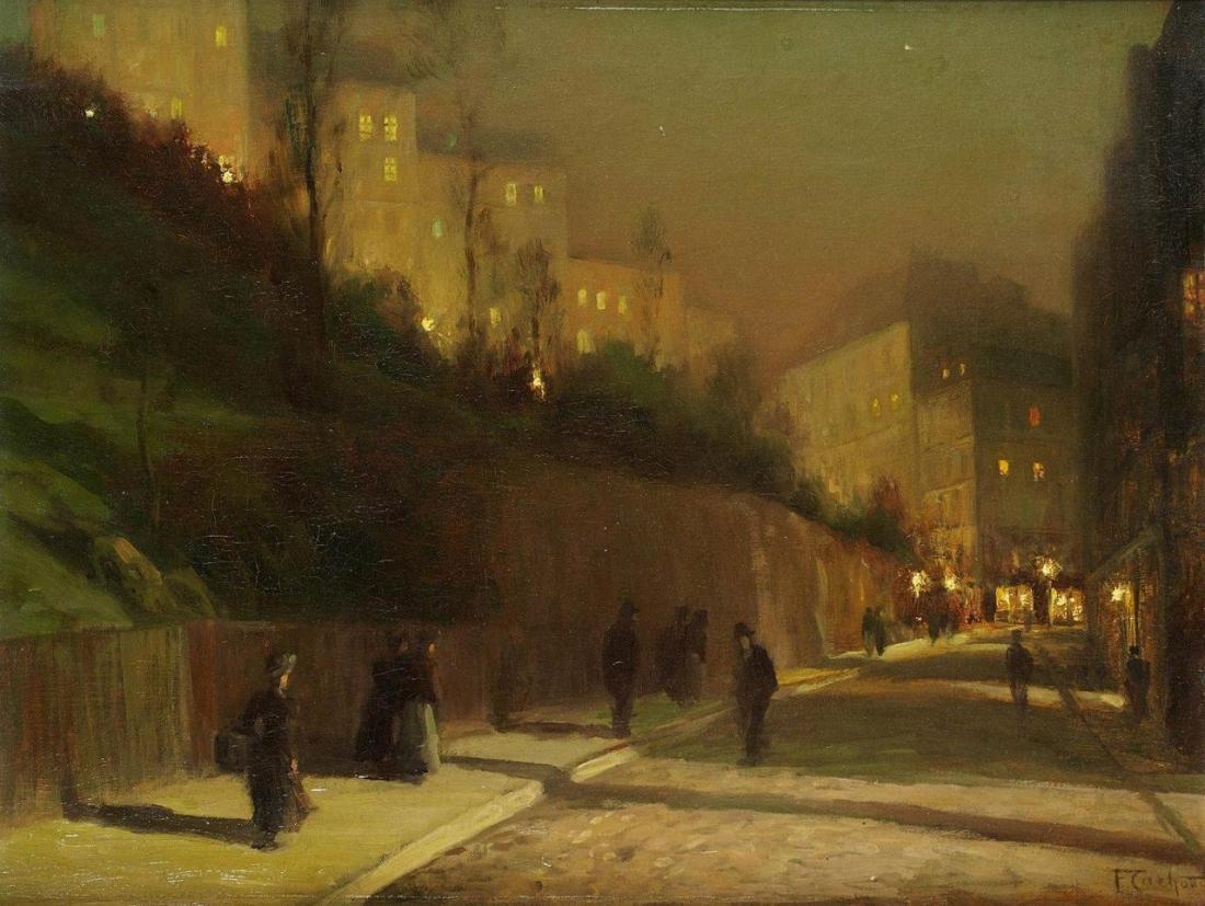"""""""Rue Saint Vincent in Montmartre at Night."""""""