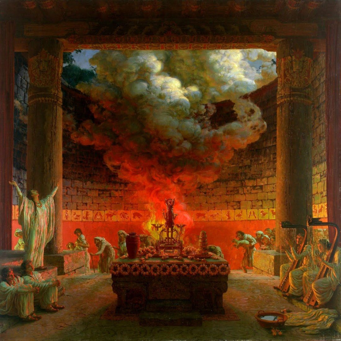 """""""Alegoric Scene."""" 1913."""