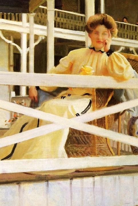 """""""The White Veranda (Mrs. Paxton."""" 1902."""