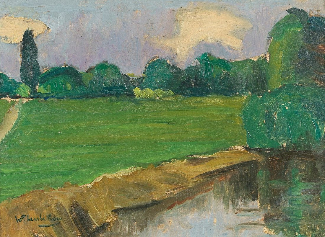 River landscape. Painted by 1908.