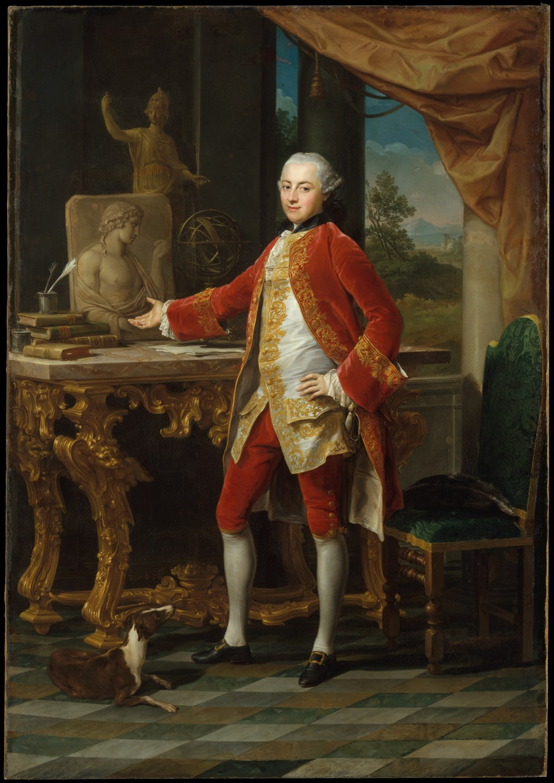 """""""Portrait of a Young Man."""" ca. 1760-1765."""