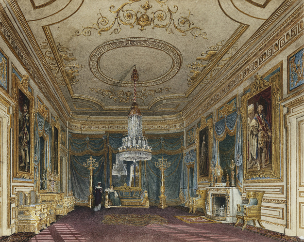 """""""The Ante Chamber to the Throne Room, Carlton House."""" ca. 1816."""