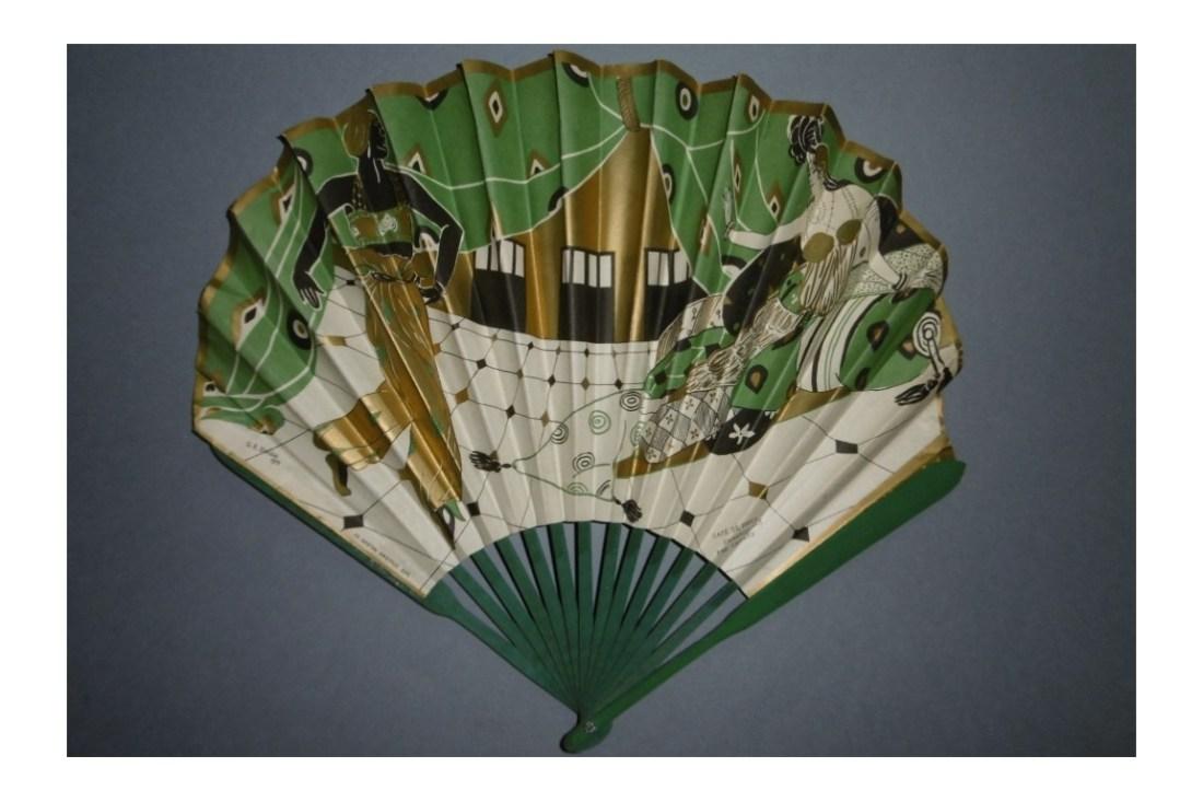 Fan with an orientalist theme, advertising ephemera for the Café de Paris, Armenonville.