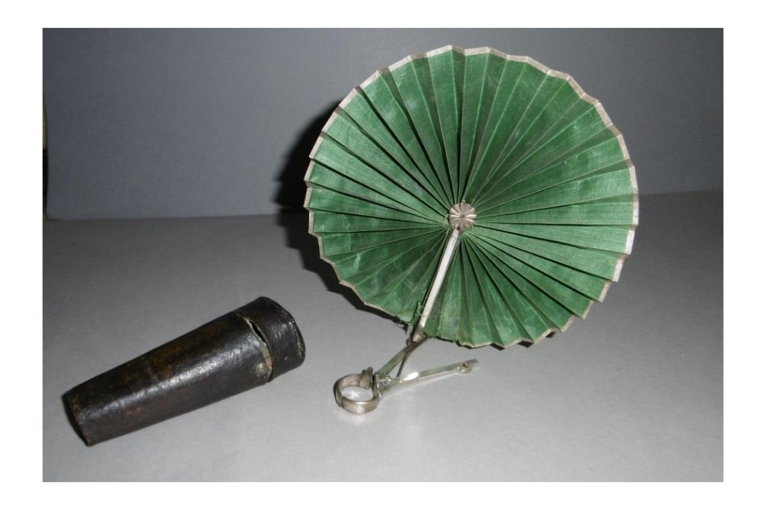 Candle/roundel fan. Late 18th -early 19th c.