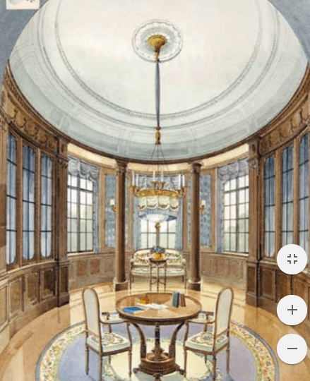 Room with domed ceiling.