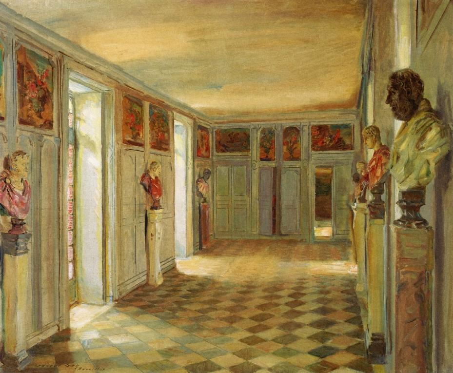 """""""Galerie des Bustes, Château du Reveillon."""" 1907-1909."""