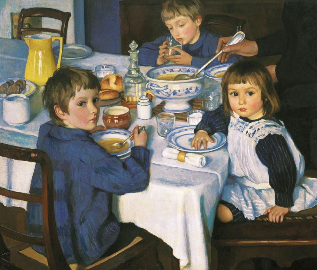 """""""At Breakfast."""" 1914."""