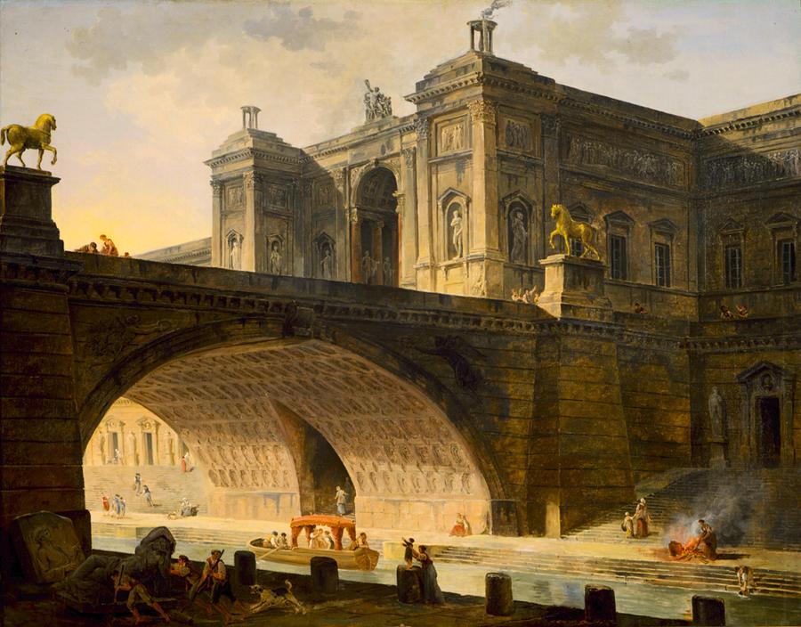 Architectural Fantasy. ca. 1802-1808. Oil on canvas.