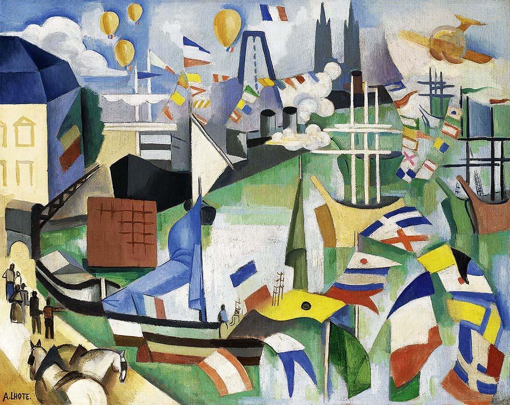André_Lhote,_1913-14,_Port_de_Bordeaux-Poincaré,_14_juillet,_oil_on_canvas,_65_x_81.5_cm