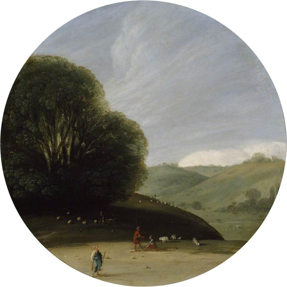 Wals, Goffredo, c.1605-c.1638; Landscape with pastoral Figures