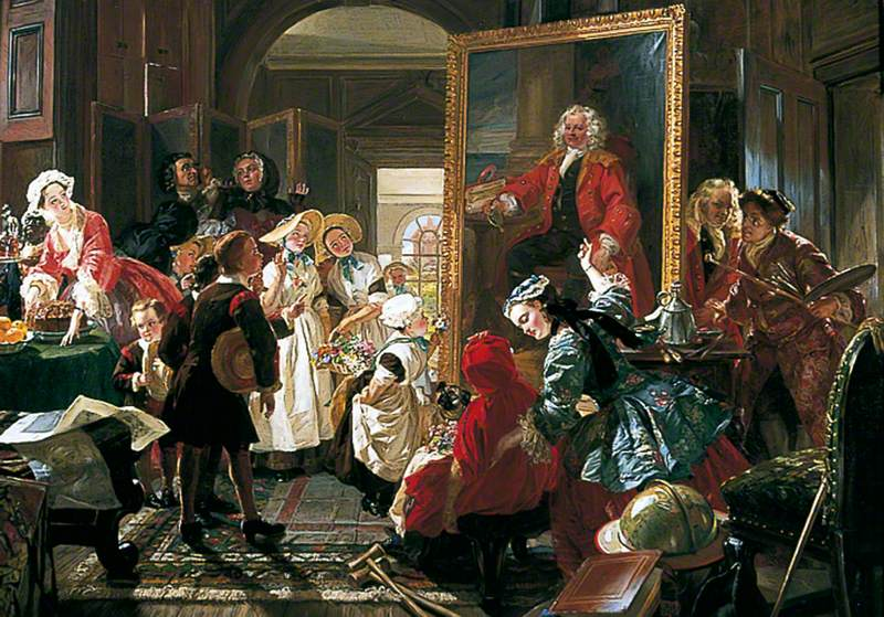 Ward, Edward Matthew, 1816-1879; Hogarth's Studio in 1739