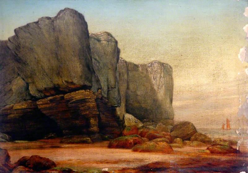 Shotton, James, 1824-1896; Cliffs of the Fairies' Kettle, Cumbria