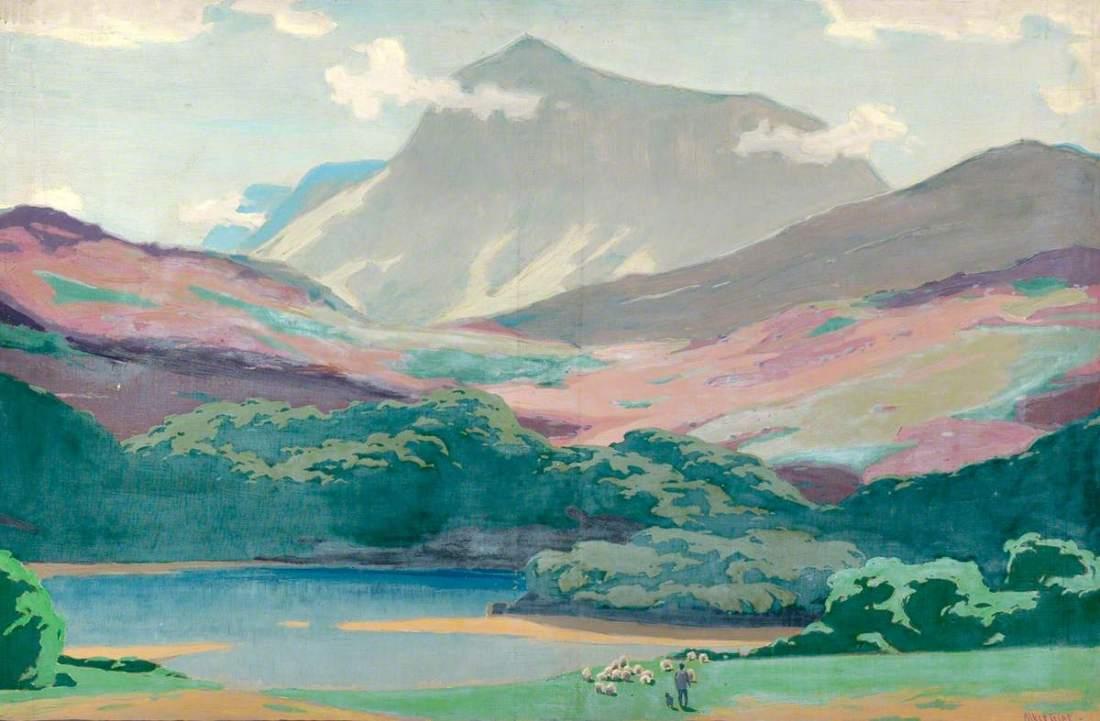 Tripp, Herbert Alker, 1883-1954; Wales, Cader Idris and the Afon Mawddach