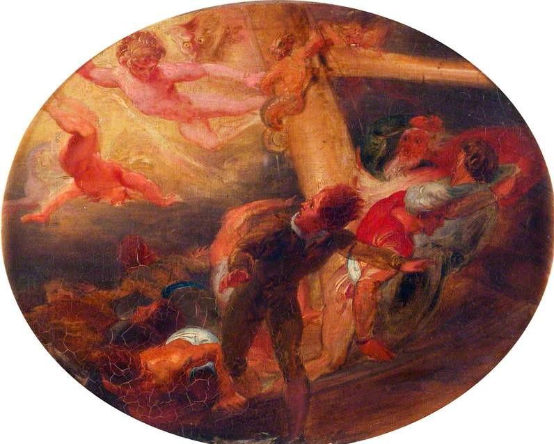 Stothard, Thomas, 1755-1834; Scene from William Shakespeare's 'The Tempest'