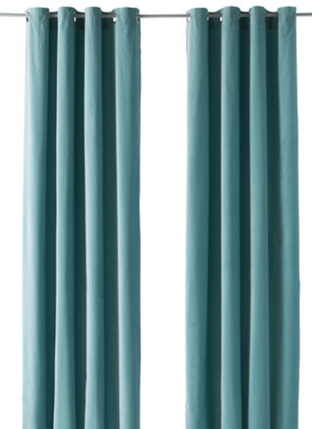 Ikea Curtains Sanela in teal