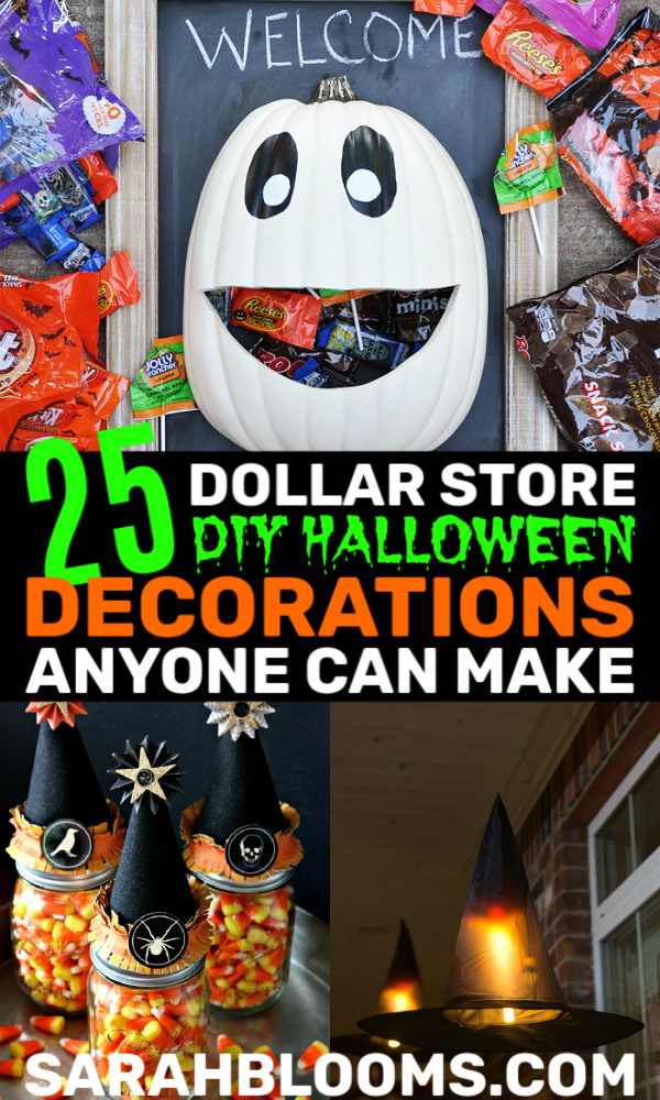 25 Cheap Easy Dollar Store Diy Halloween Decorations Sarah Blooms