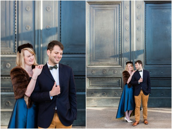 Formal Winter Engagement Session National Of