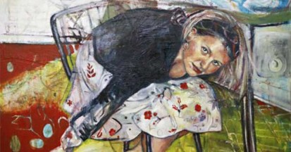"""'Duck and Cover' 42"""" x 60"""" Mixed Media on Canvas 2006"""