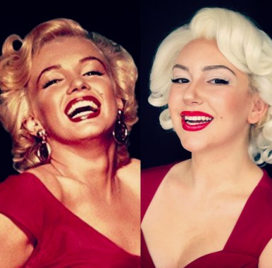Marilyn Monroe Recreation Side by Side