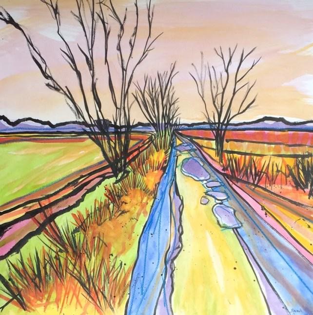 Ancient Marsh Track Across Gillingham Marsh