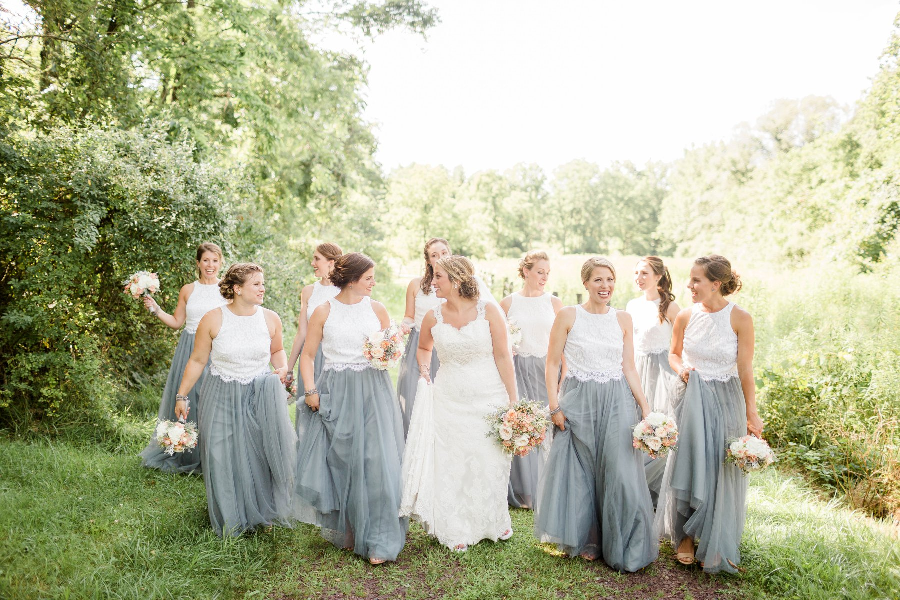 Rustic and romantic summer wedding in reading pa sarah for Wedding dresses reading pa