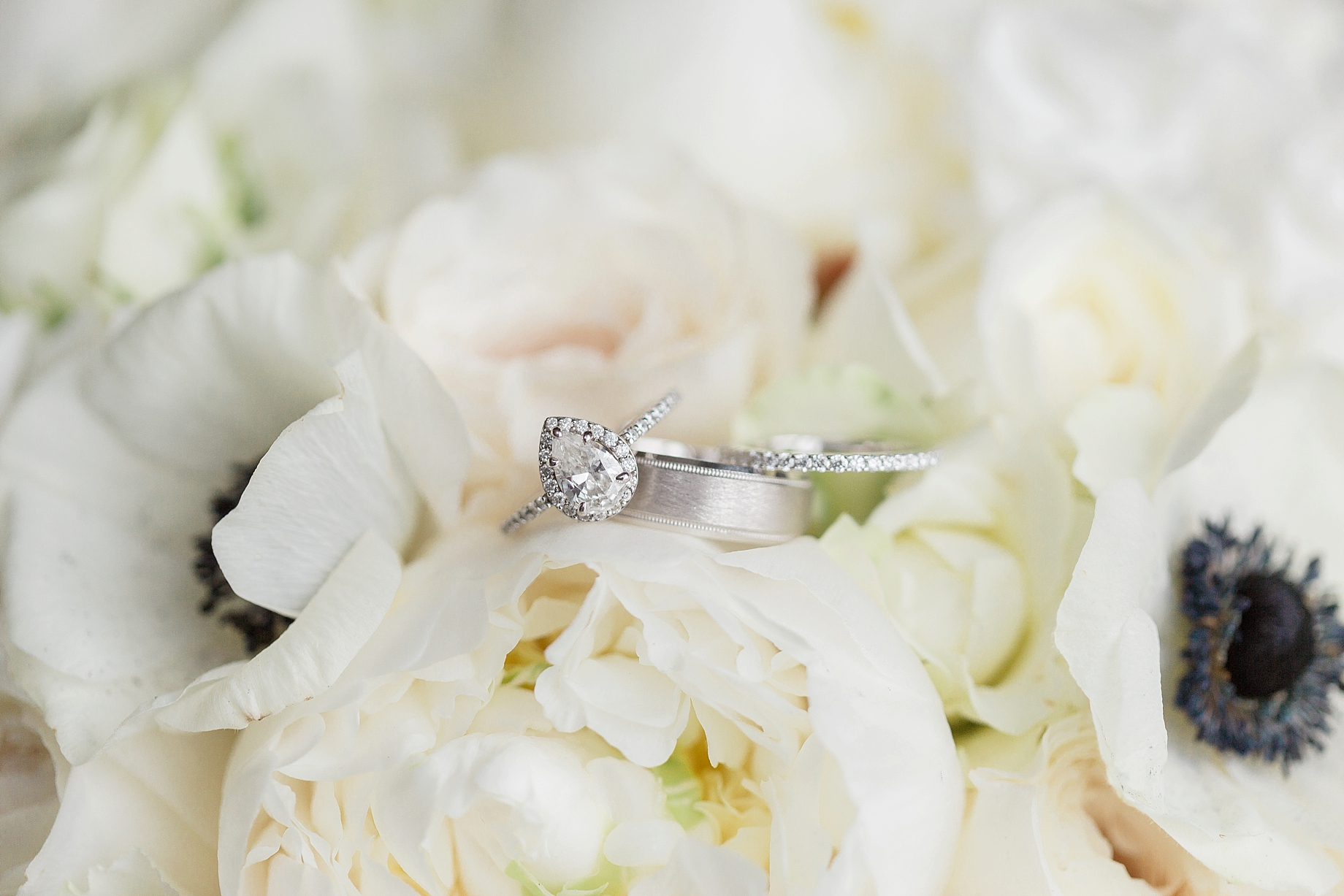 Pear Cut engagement ring | William Penn Inn Wedding
