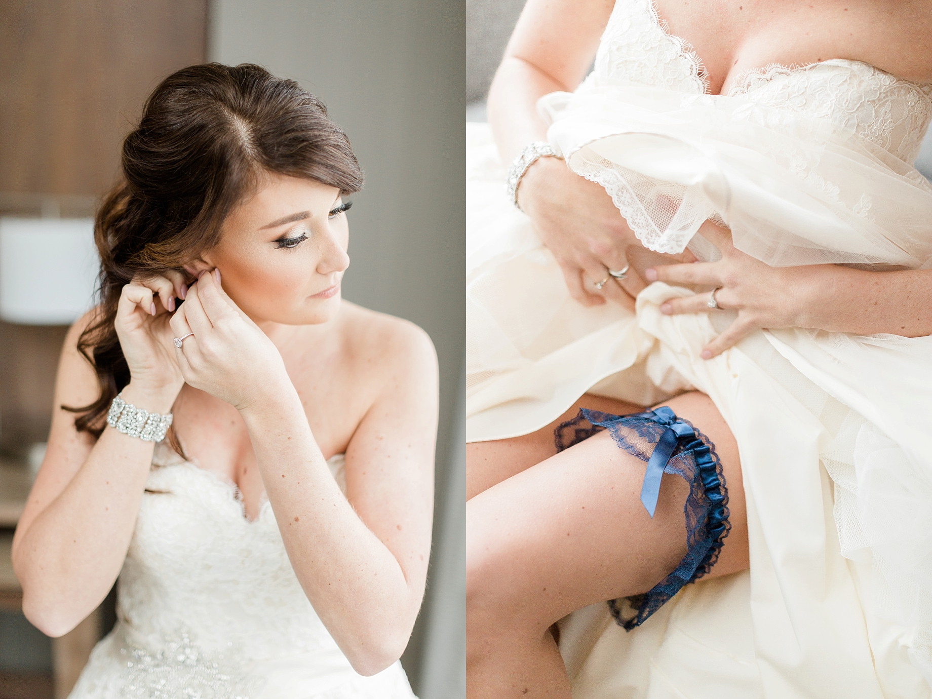 Bride getting ready | William Penn Inn Wedding