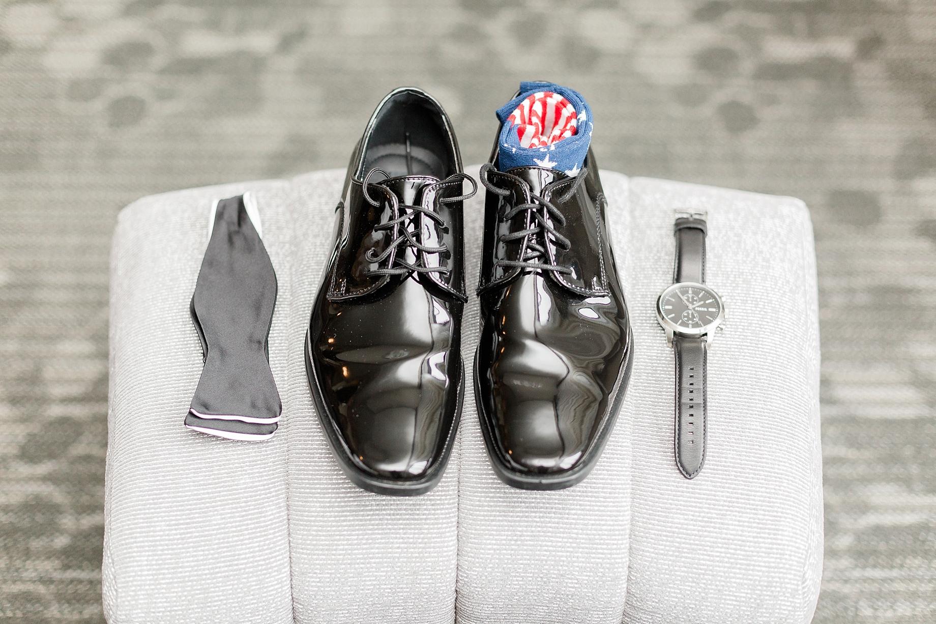 american flag groom socks   William Penn Inn Wedding