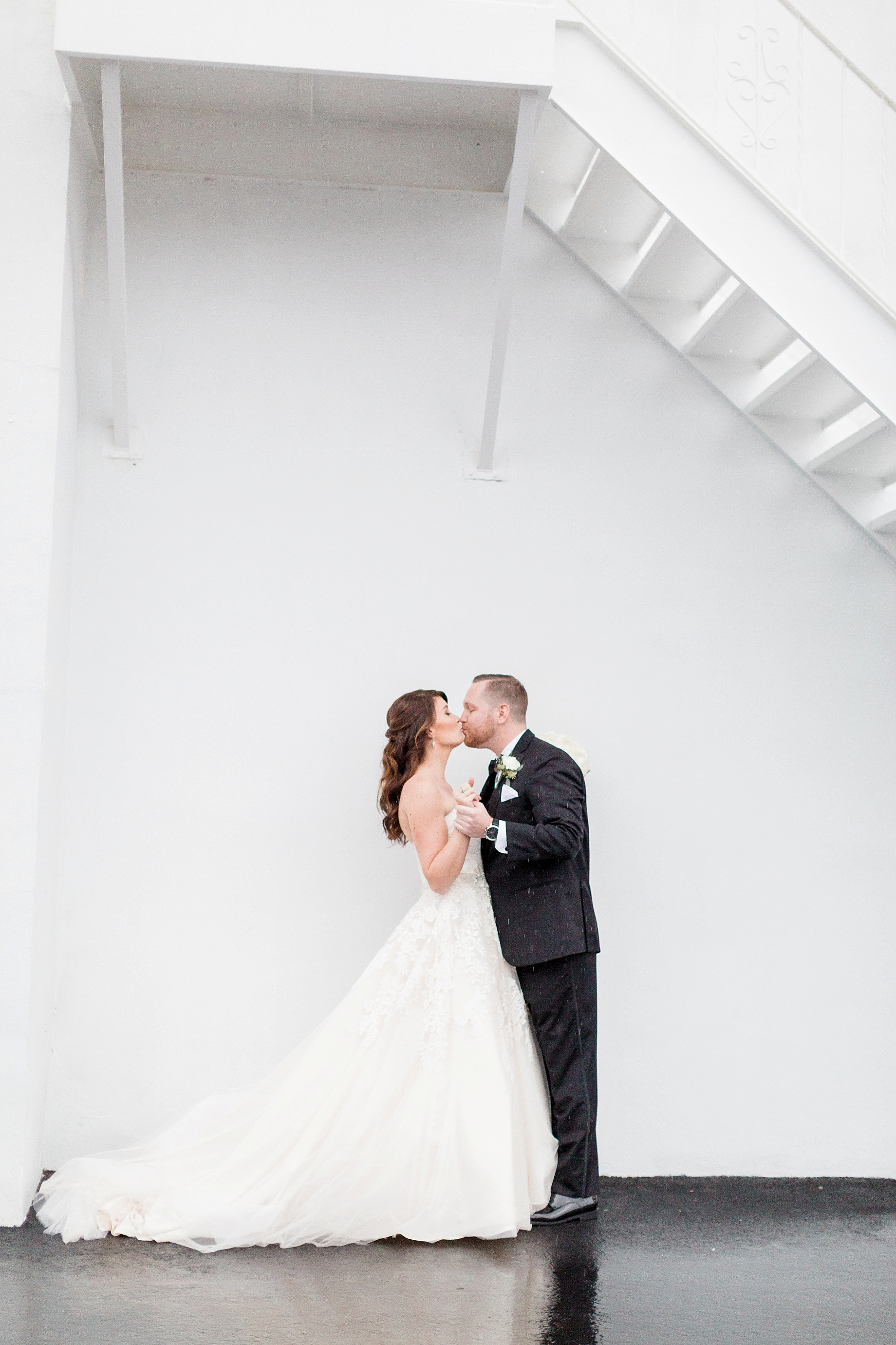 Bride and groom kissing | William Penn Inn Wedding