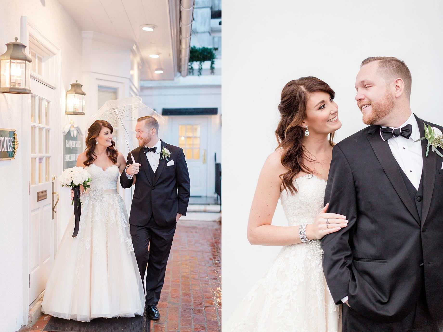 Wedding portraits in the rain   William Penn Inn Wedding