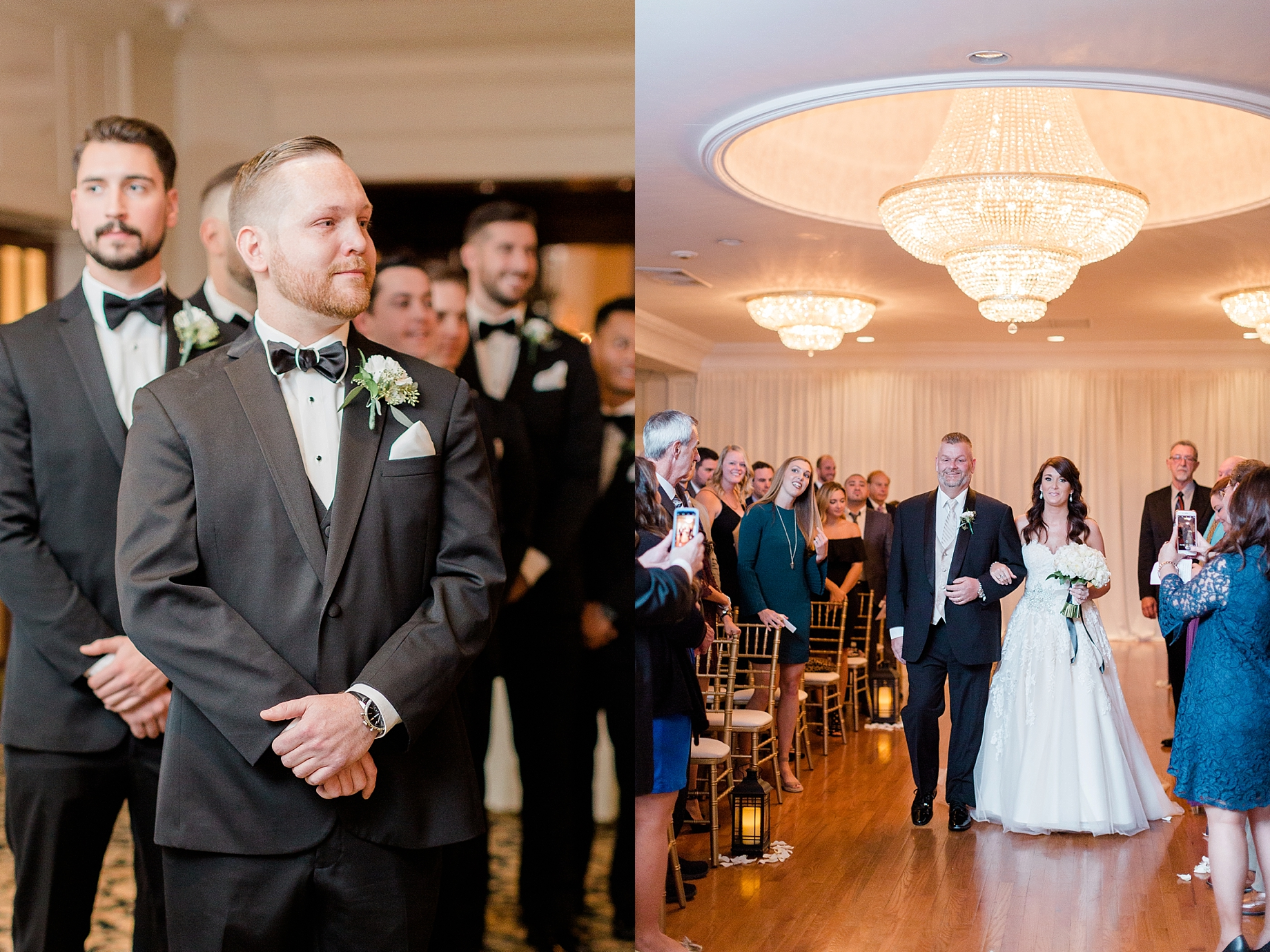 bride walking down the aisle | William Penn Inn Wedding