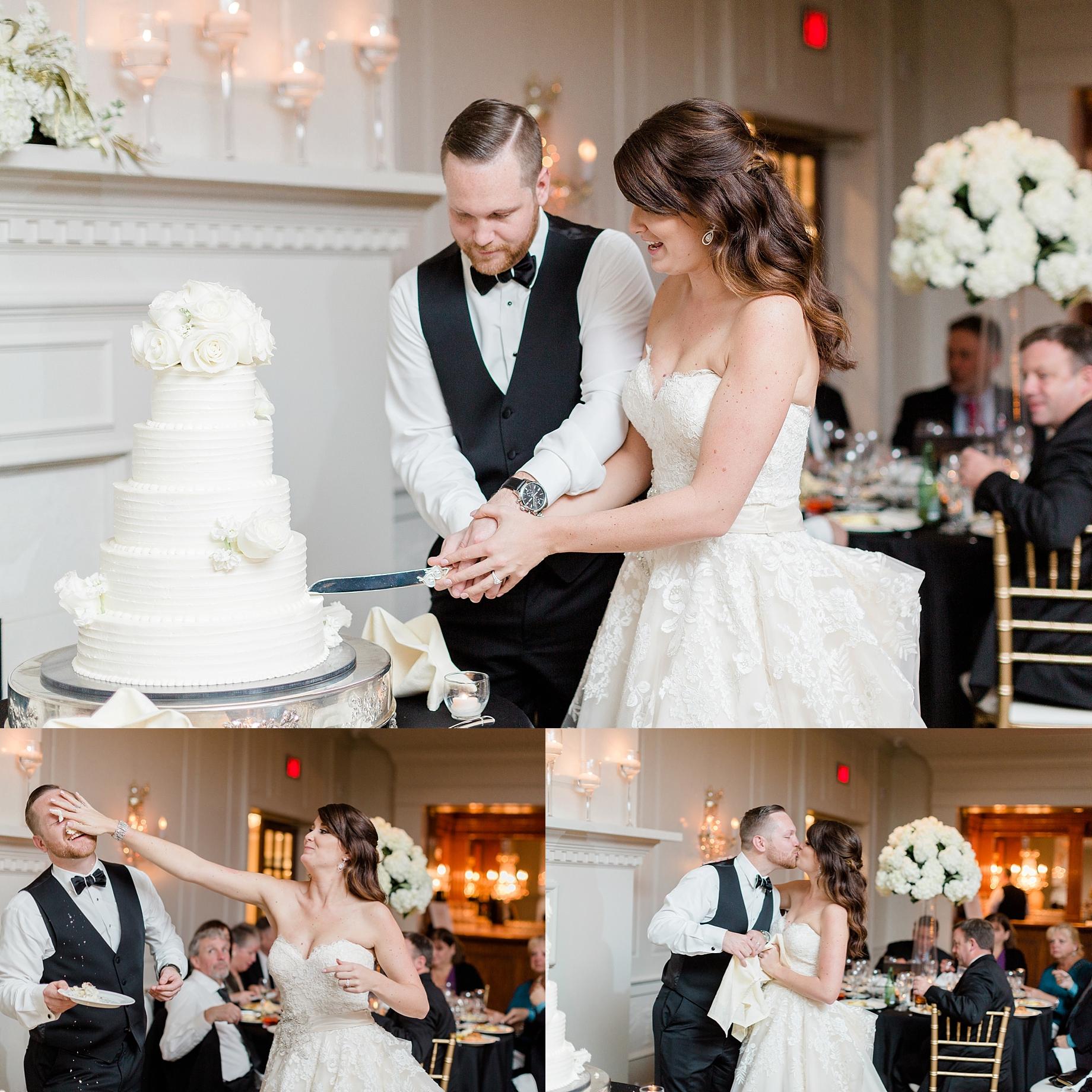 cutting the cake   William Penn Inn Wedding