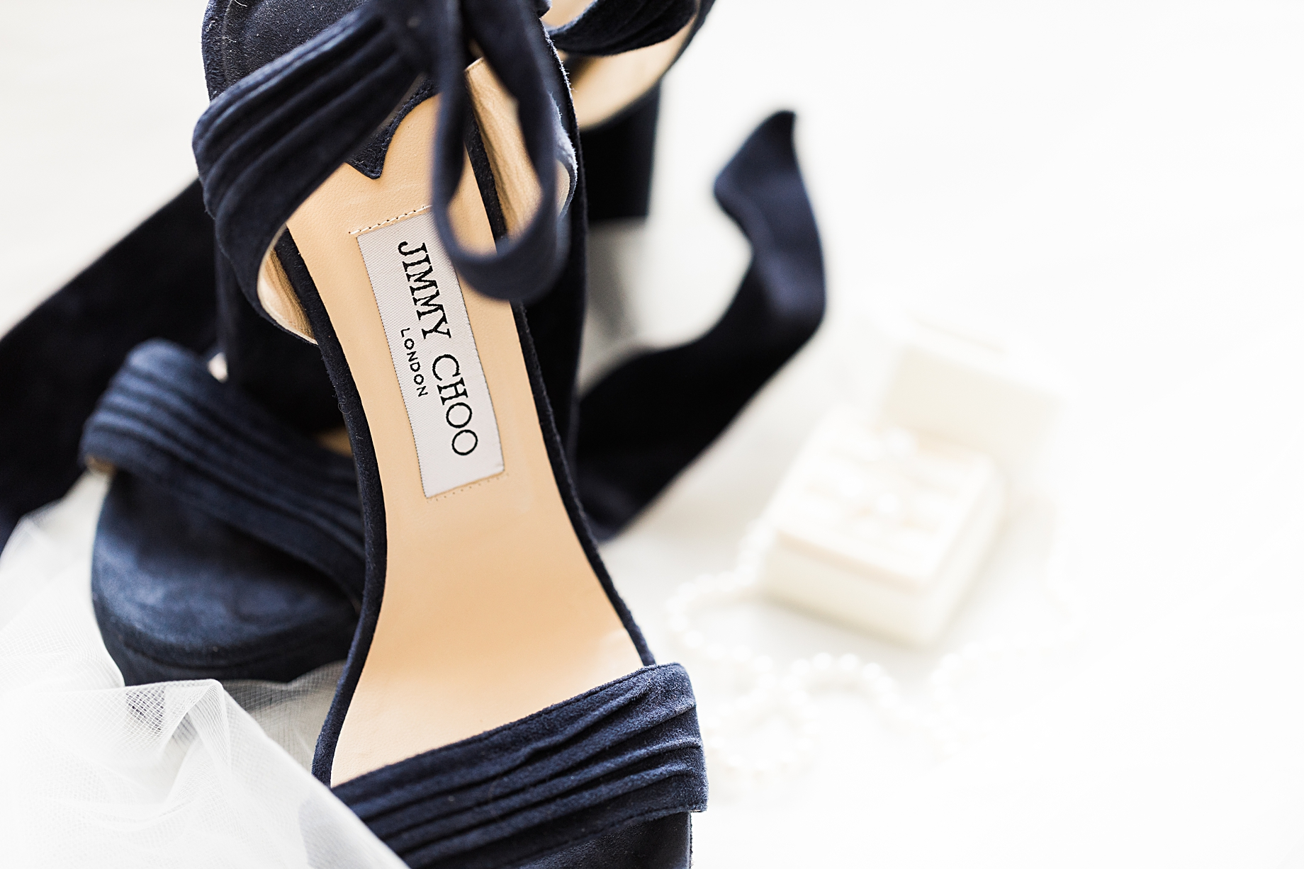 Jimmy Choo Bridal Shoes | Philadelphia Winter Wedding