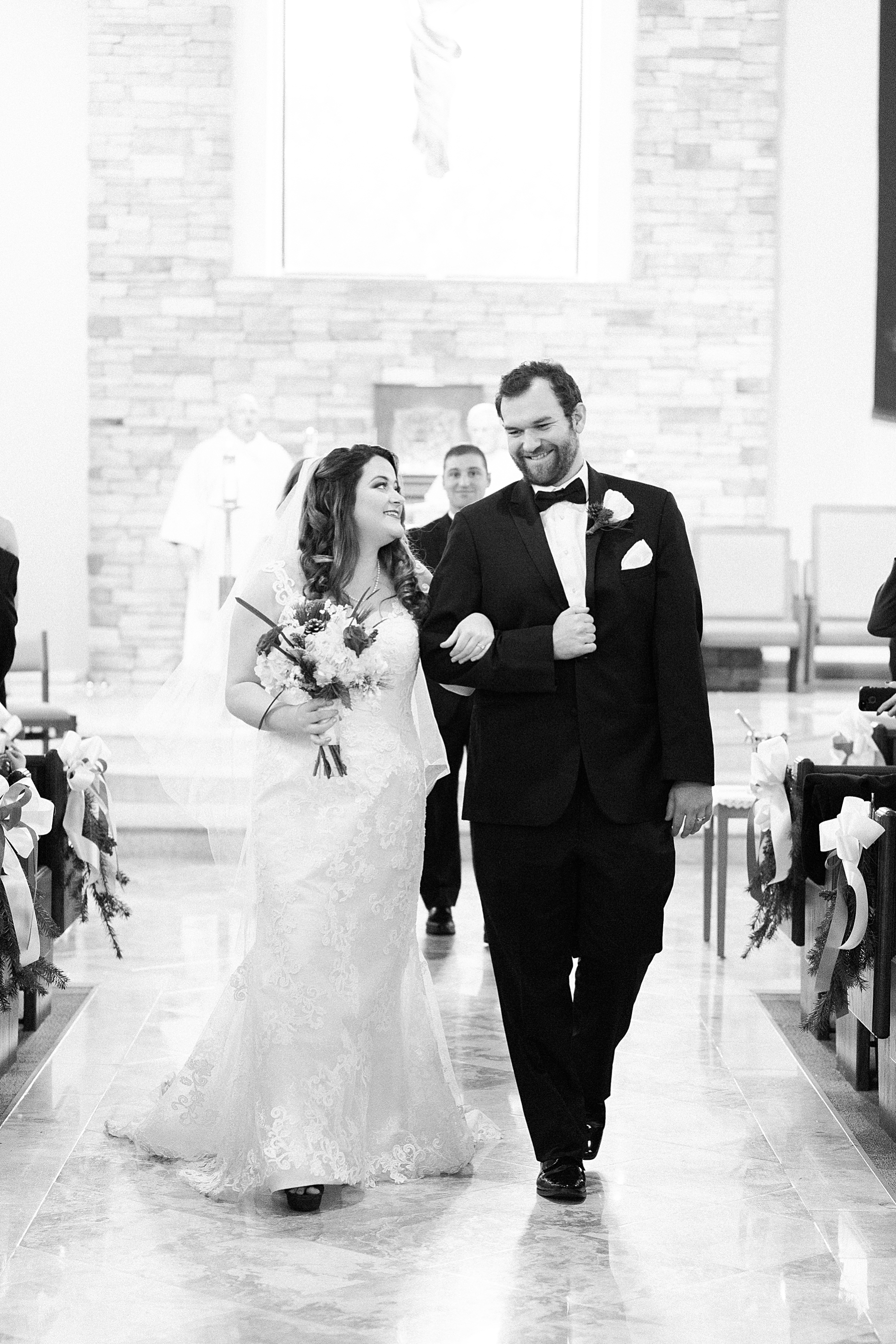 Philadelphia Winter Wedding Church Ceremony