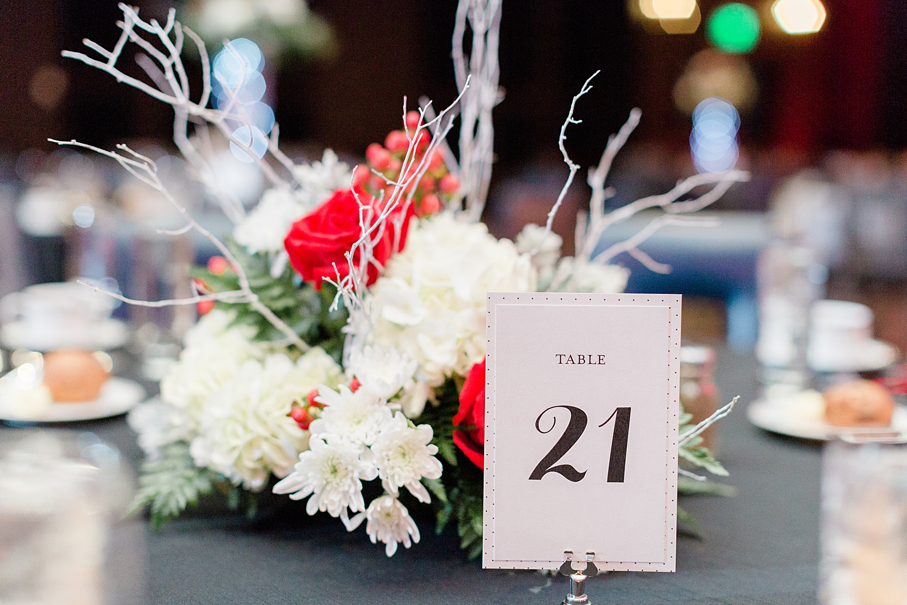 Centerpieces by Tunies Floral Expressions | Sugarhouse Casino Wedding