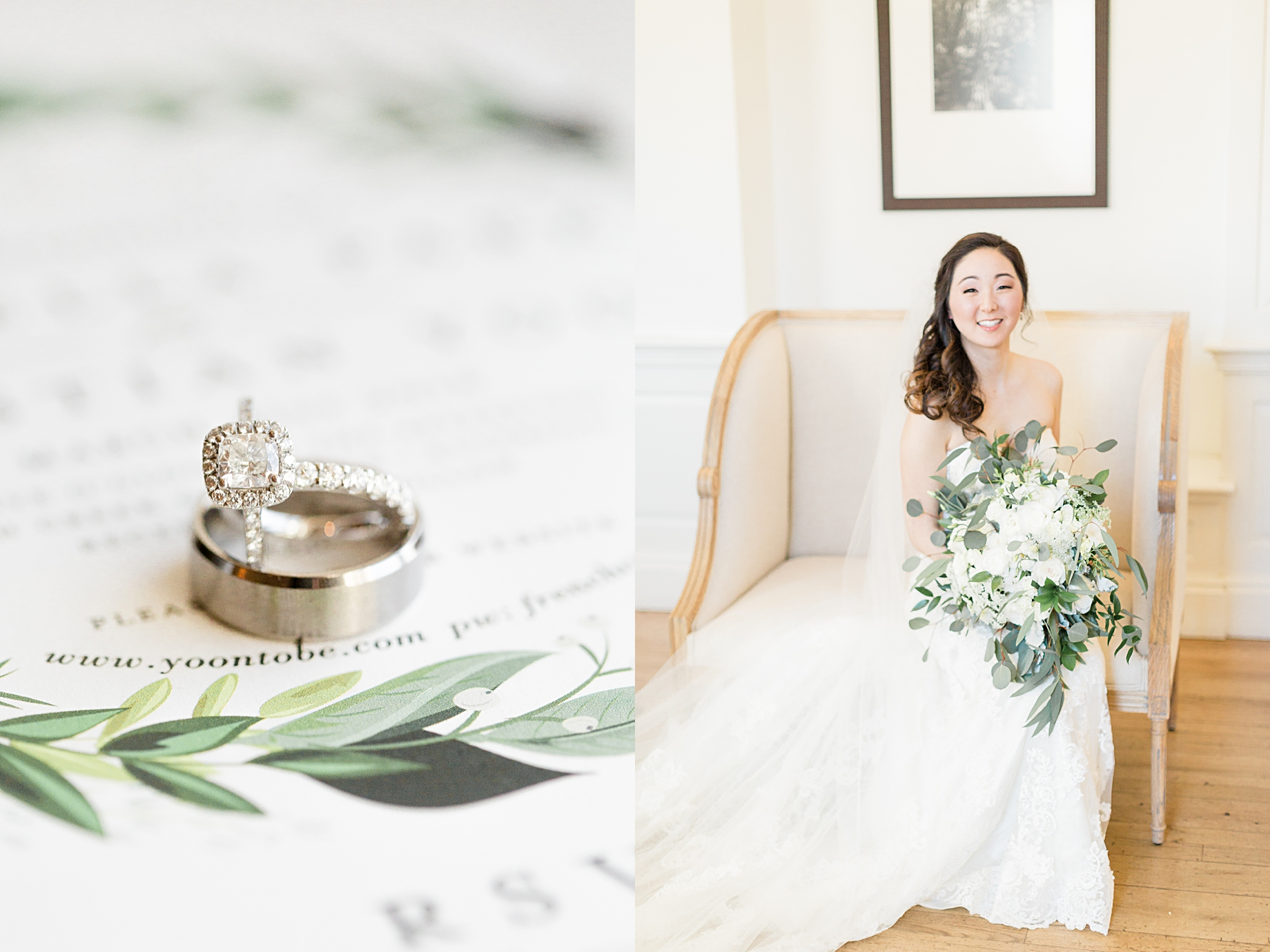 french creek golf club wedding bridal portrait