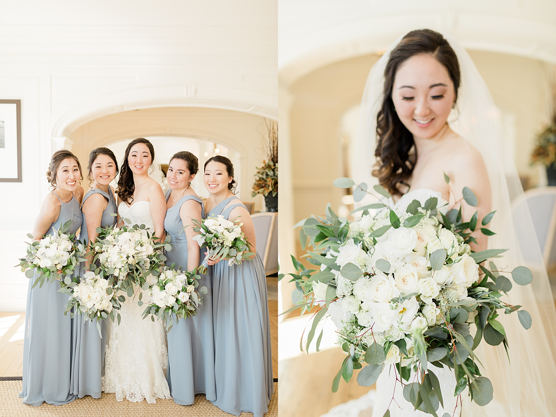Dusty Blue and Ivory Wedding at French Creek Golf Club