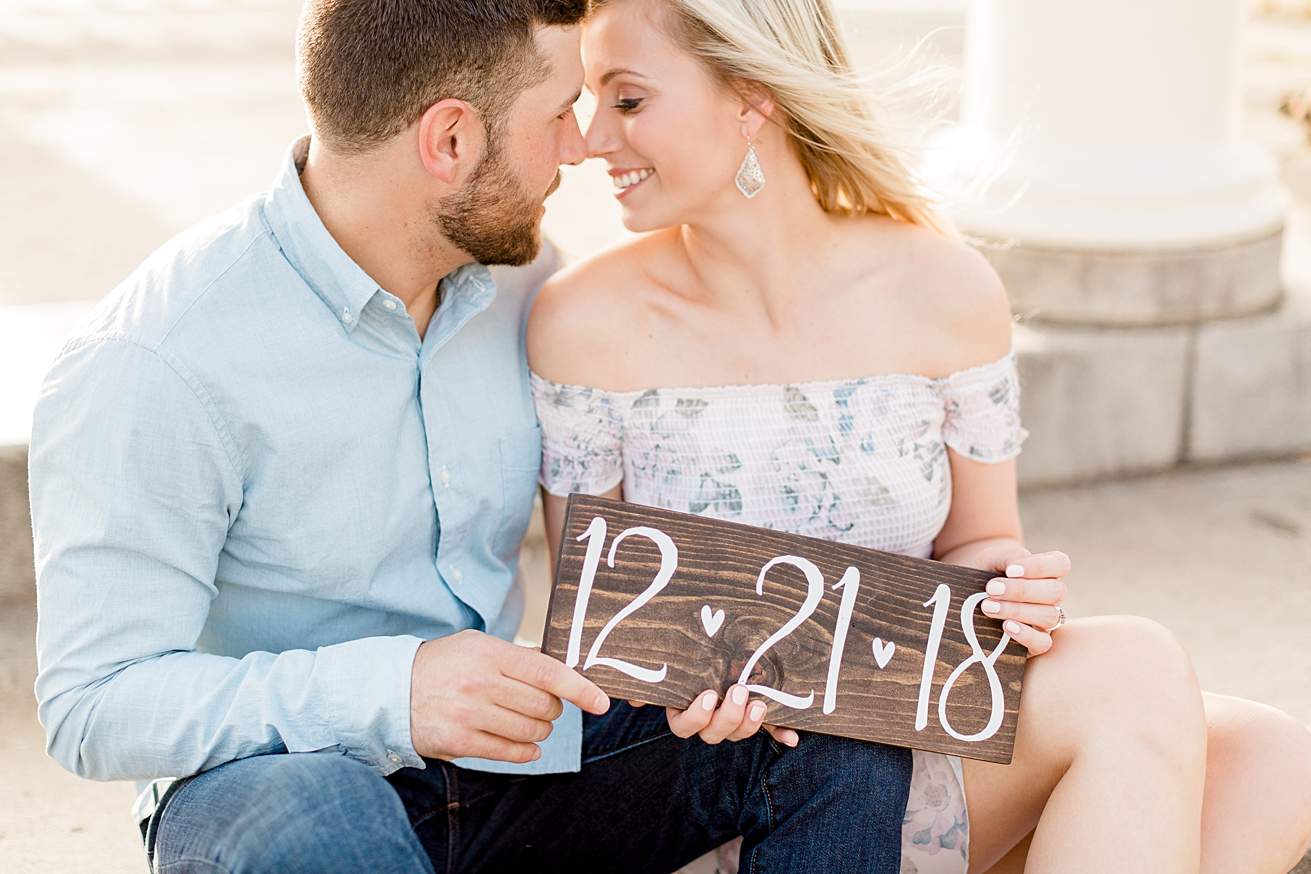 save the date engagement photo