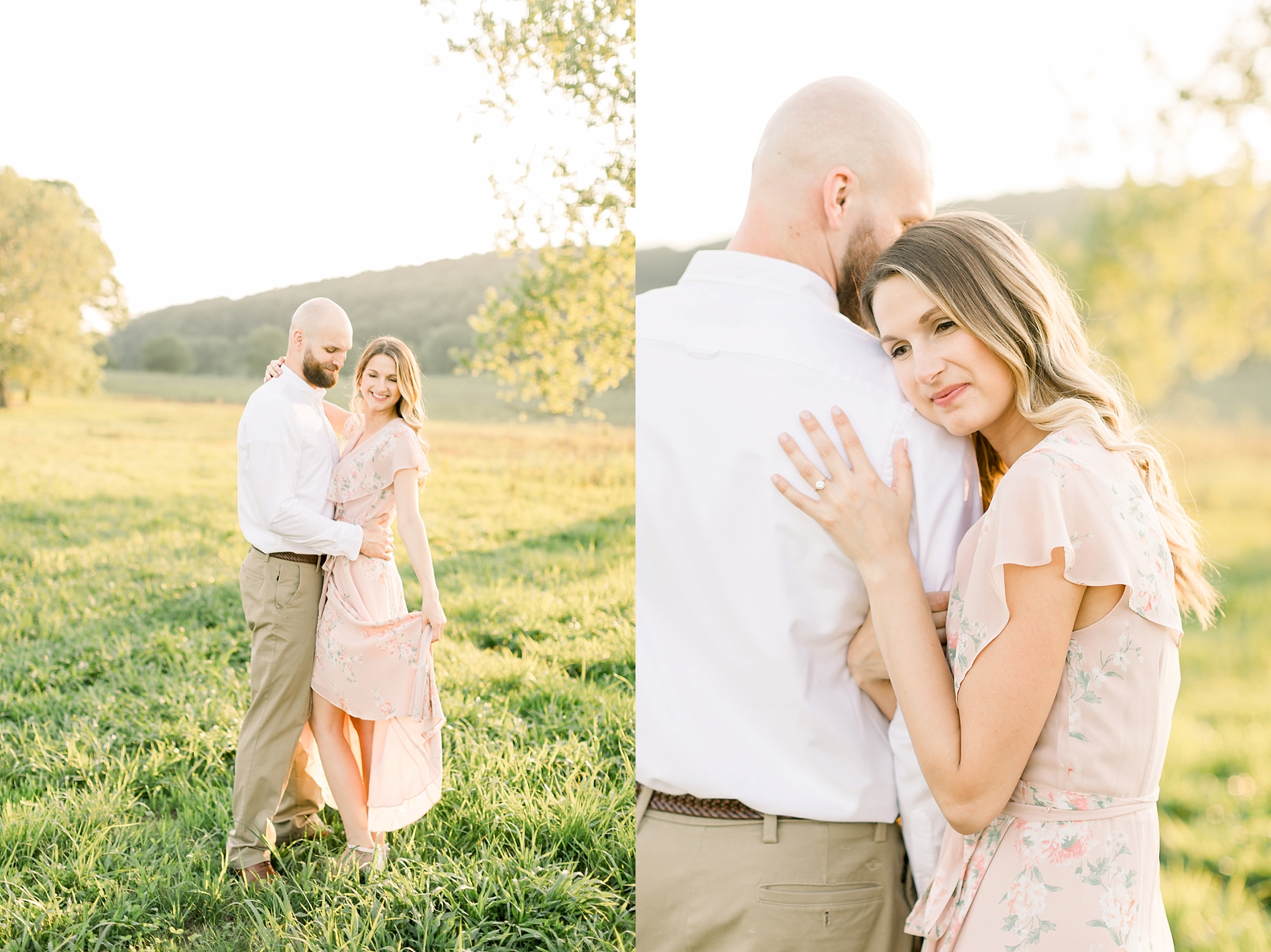 Golden Hour Engagement Session at Valley Forge_