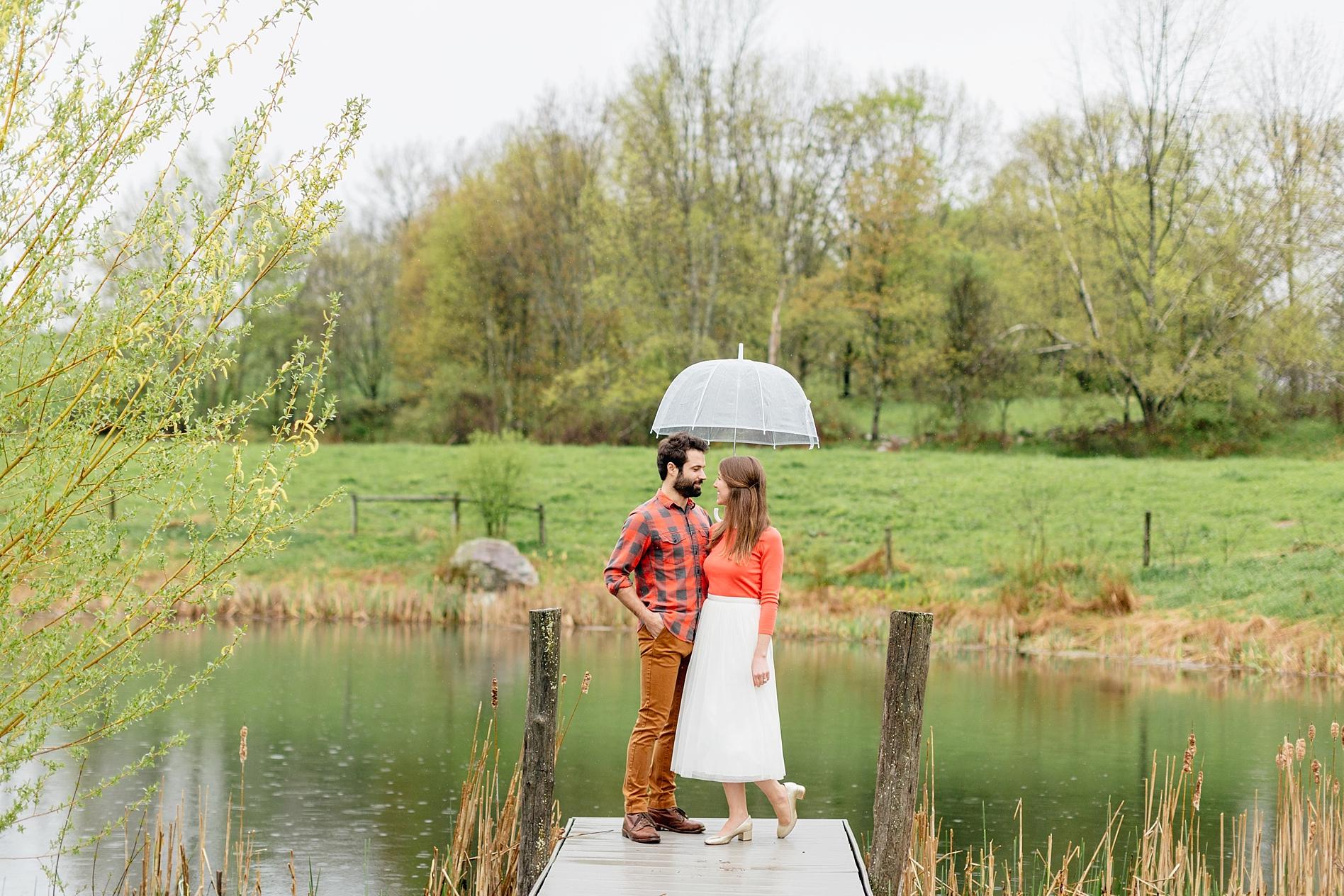 Rainy Day Engagement Session