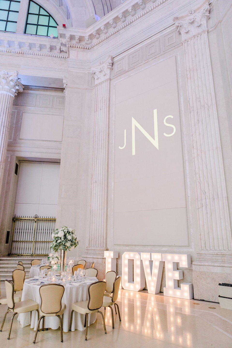 Wedding at the Franklin Institute