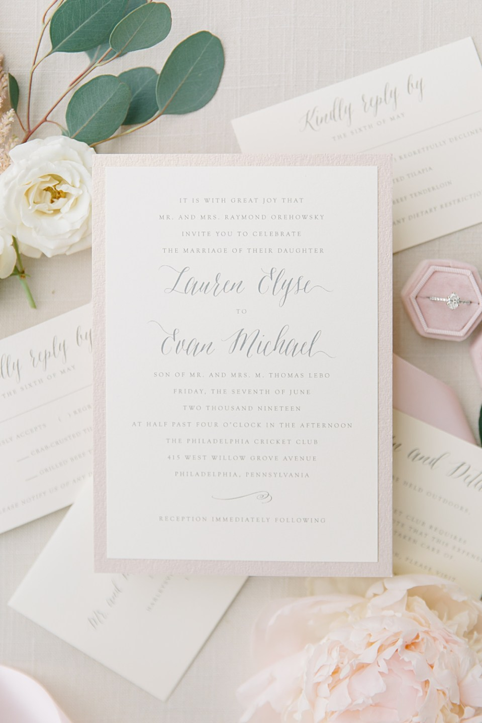 stone hill paperie wedding invitation suite
