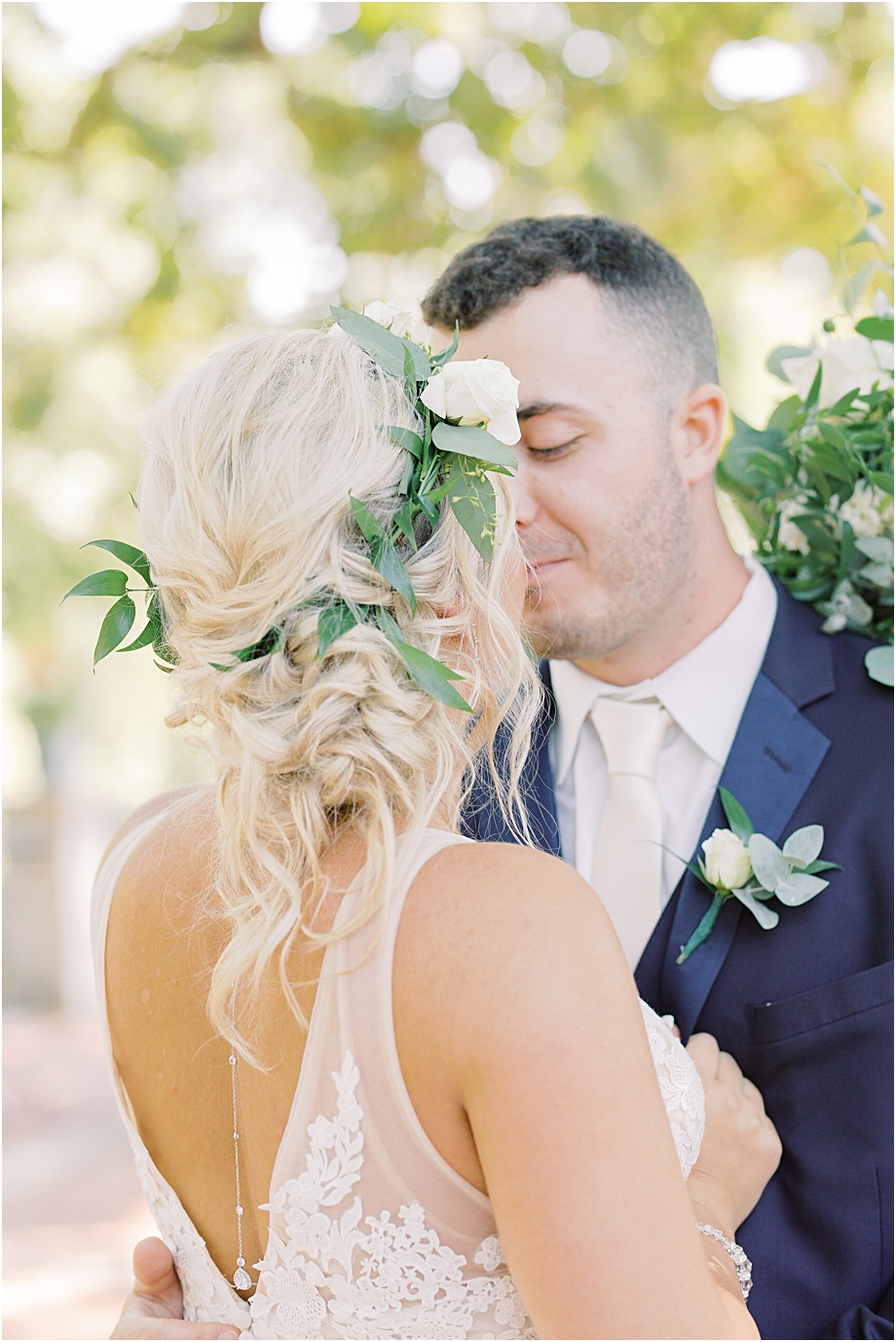boho wedding updo | bride and groom portraits | Hotel Du Village Wedding