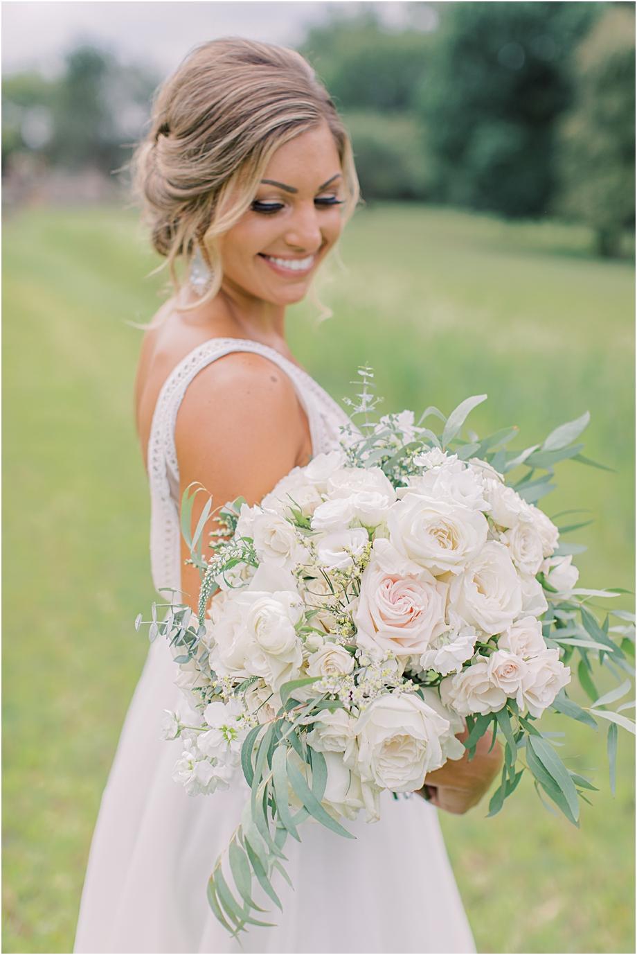 Pastel wedding bouquet by DFW Event Design
