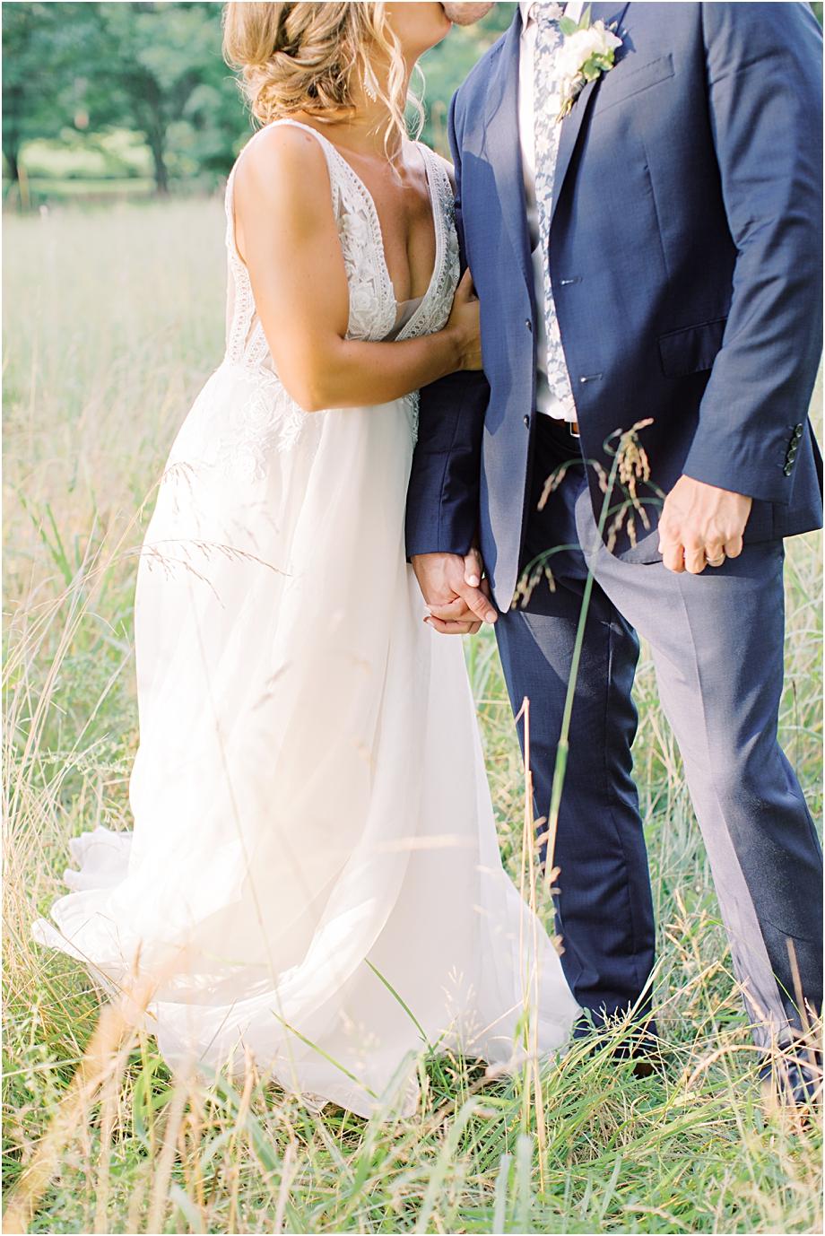 sunset wedding portraits | John James Audubon Center Wedding