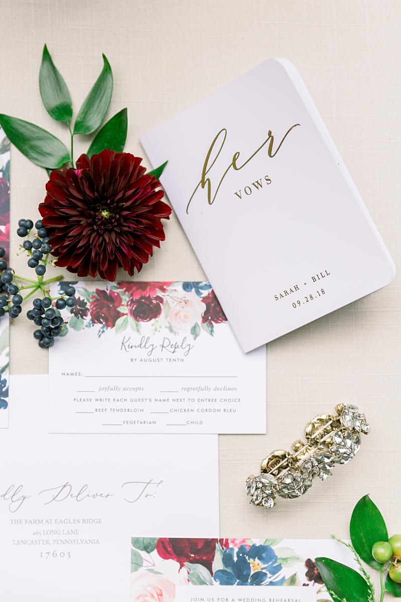 Fall wedding details | lancaster wedding photographer